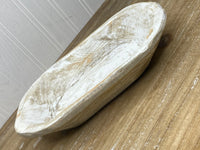 White Painted Dough Bowl | Medium