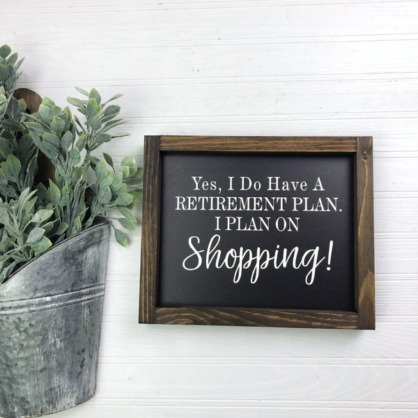 8x10 Retirement Plan Shopping