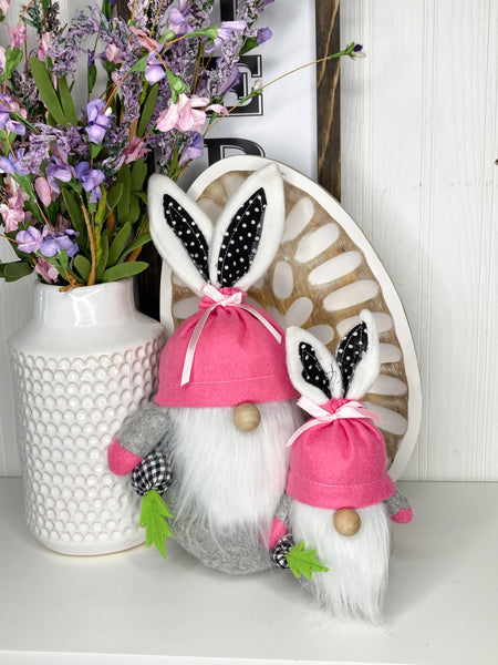Easter Pink Bunny Gnome
