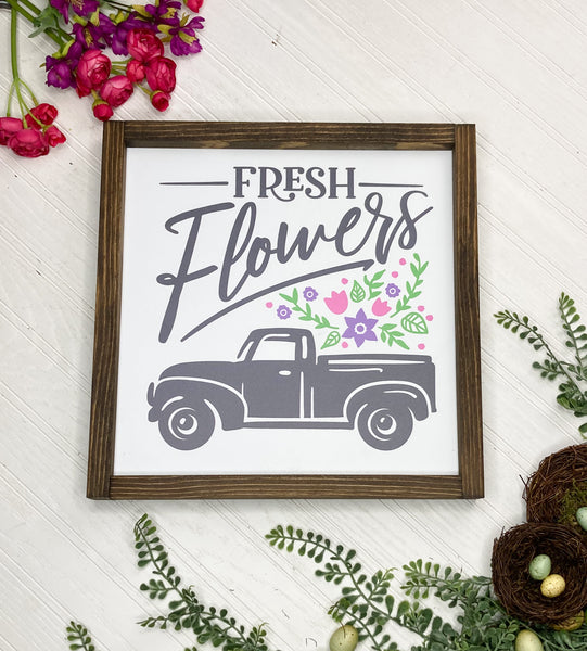 Easter Fresh Flowers Truck Sign