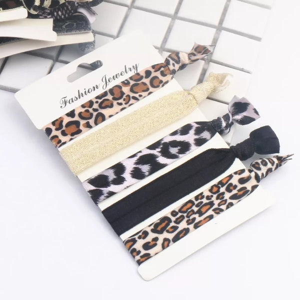 Animal Print Hair Tie Set