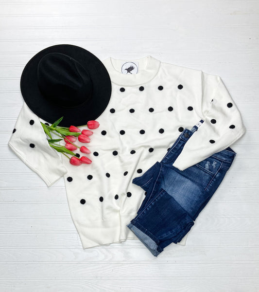 Audrey Polka Dot Sweater