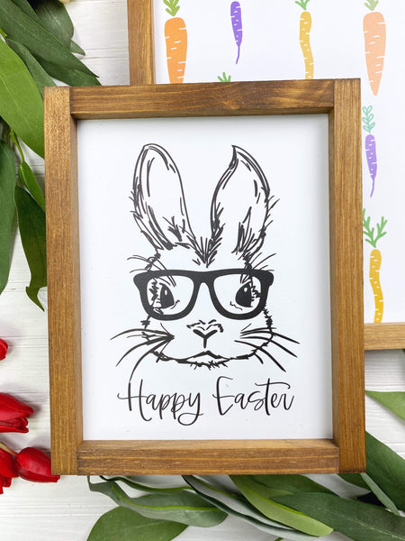 Happy Easter Bunny with Glasses