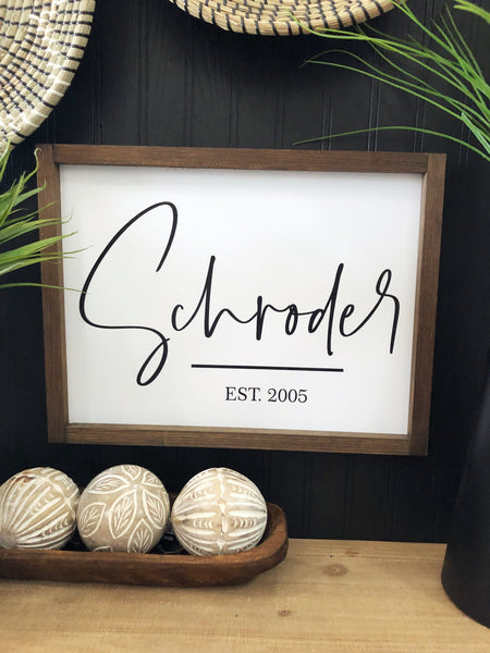 Custom Last Name Sign