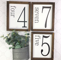 8x10 Family Number Sign