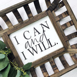8x10 I Can and I Will