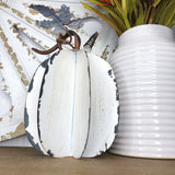 White Tin Pumpkin | 10""