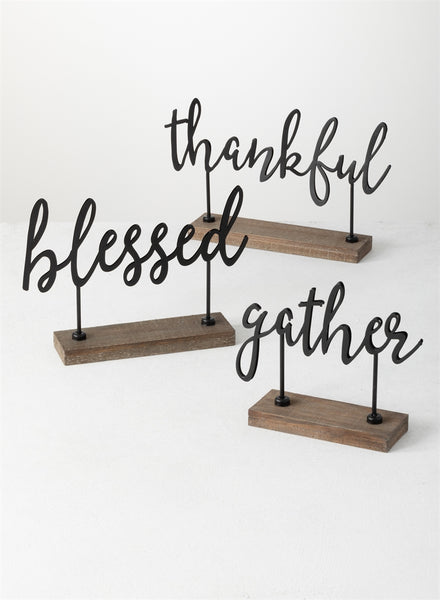 Tabletop Blessed Thankful Gather