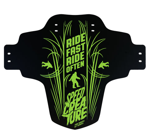 Speed Creature Black/Green pinstripe Mud Guard