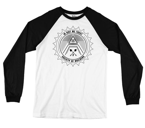 Dirt Mason Long Sleeve Baseball T-Shirt