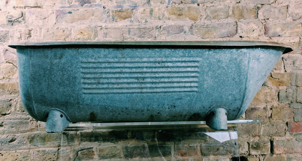 Vintage Metal Trough / Bath - Garden Planter / Decorative Salvage - Junk Art Design @junkartdesign www.junkartdesign.co.uk