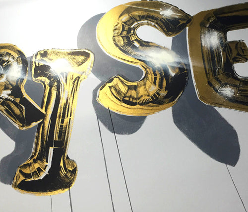 """Rise"" (Gold Edition) by Fanakapan - Junk Art Design @junkartdesign www.junkartdesign.co.uk"