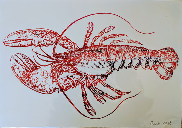 Original LOBSTER screen print by Paul McNeil - A3 size