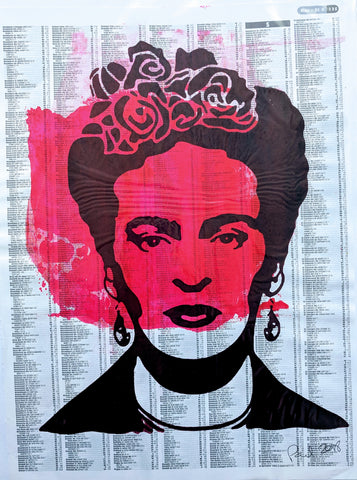 Original FRIDA KAHLO screen print by Paul McNeil - A3 size