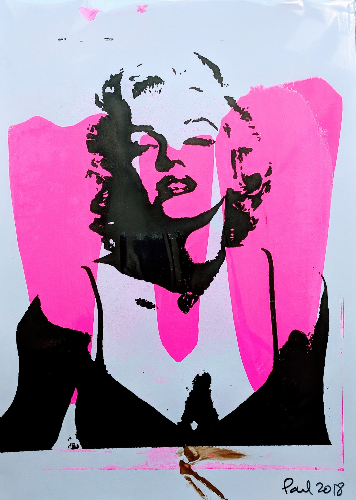 Original MARILYN MONROE screen print by Paul McNeil - A3 size - Junk Art Design @junkartdesign www.junkartdesign.co.uk