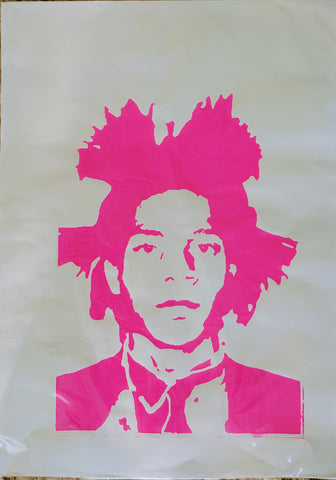 Original BASQUIAT screen print by Paul McNeil - A2 size - Junk Art Design @junkartdesign www.junkartdesign.co.uk