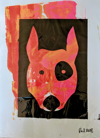 Original TERRIER DOG screen print by Paul McNeil - A2 size