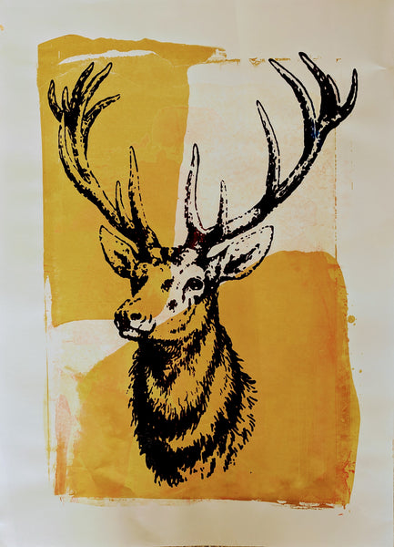 Original STAG screen print by Paul McNeil - A2 size