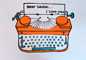 Limited Edition LOVE LONDON 3-colour screen-print by Paul McNeil - A1 size - Junk Art Design @junkartdesign www.junkartdesign.co.uk