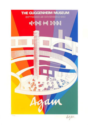 "PanoramAgam signed Guggenheim Museum ""Beyond The Visible"" by Yaacov Agam - Junk Art Design @junkartdesign www.junkartdesign.co.uk"