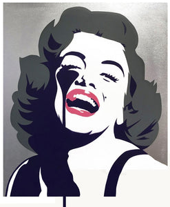 Screaming Marilyn - Silver by Pure Evil - Marilyn Monroe - Junk Art Design @junkartdesign www.junkartdesign.co.uk