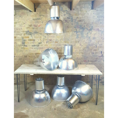 Large Industrial Aluminium Ceiling Lights - Junk Art Design @junkartdesign www.junkartdesign.co.uk