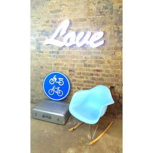 """Love"" large fairground-style cabouchon lights. - Junk Art Design @junkartdesign www.junkartdesign.co.uk"