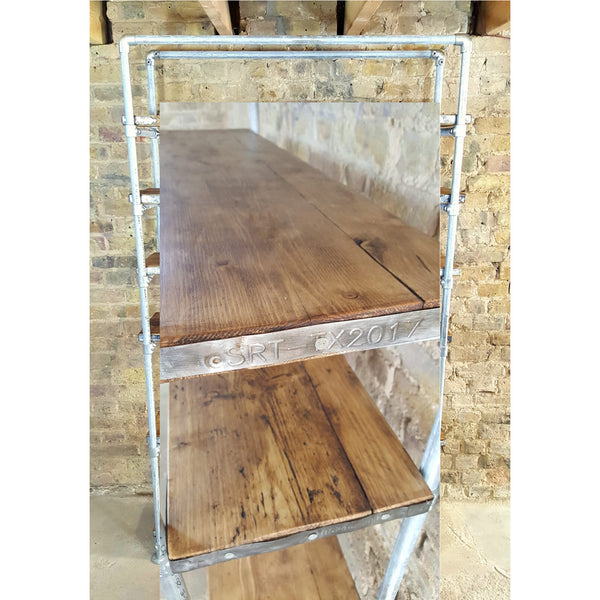 "Tall bare steel & pine ""Kieron"" bookcase - Junk Art Design @junkartdesign www.junkartdesign.co.uk"