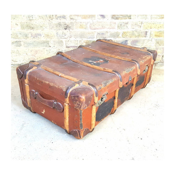 Vintage Steamer Trunk - Junk Art Design @junkartdesign www.junkartdesign.co.uk