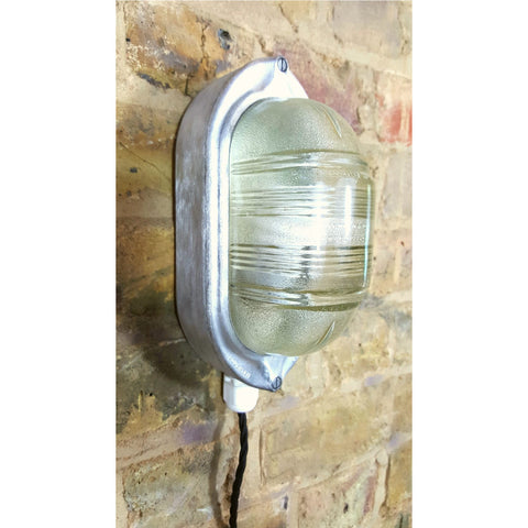 Coughtrie of Glasgow Vintage Industrial Aluminium Bulkhead light - Junk Art Design @junkartdesign www.junkartdesign.co.uk