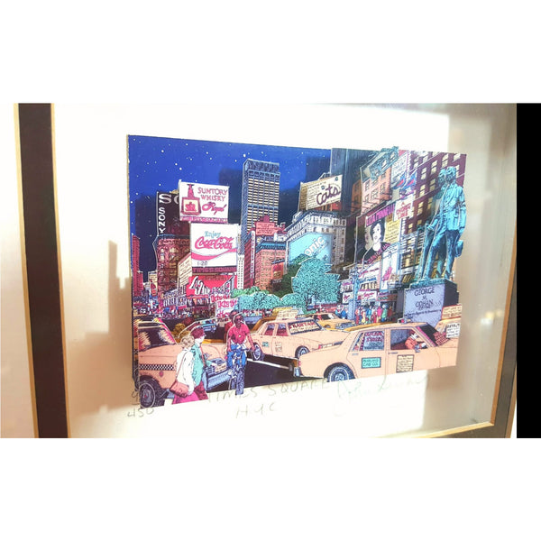 Times Square, New York by John Suchy - Signed limited edition - Junk Art Design @junkartdesign www.junkartdesign.co.uk