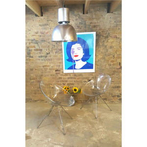 Set of 2 Philippe Starck-designed Ero/S  perspex chairs - Junk Art Design @junkartdesign www.junkartdesign.co.uk