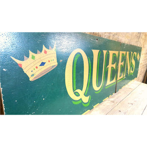 Queens large wooden painted sign - Very Large - Junk Art Design @junkartdesign www.junkartdesign.co.uk