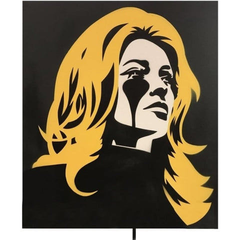 Roman Polanski's Nightmare - Sharon Tate by Pure Evil - Junk Art Design @junkartdesign www.junkartdesign.co.uk