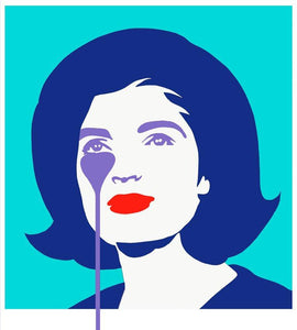 """JFK's Nightmare"" – The First Lady in Blue by Pure Evil - Junk Art Design @junkartdesign www.junkartdesign.co.uk"