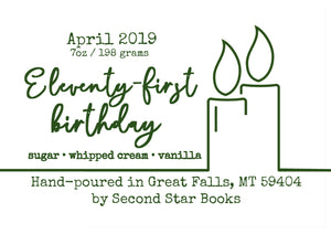 Eleventy-first Birthday candle - glass jar