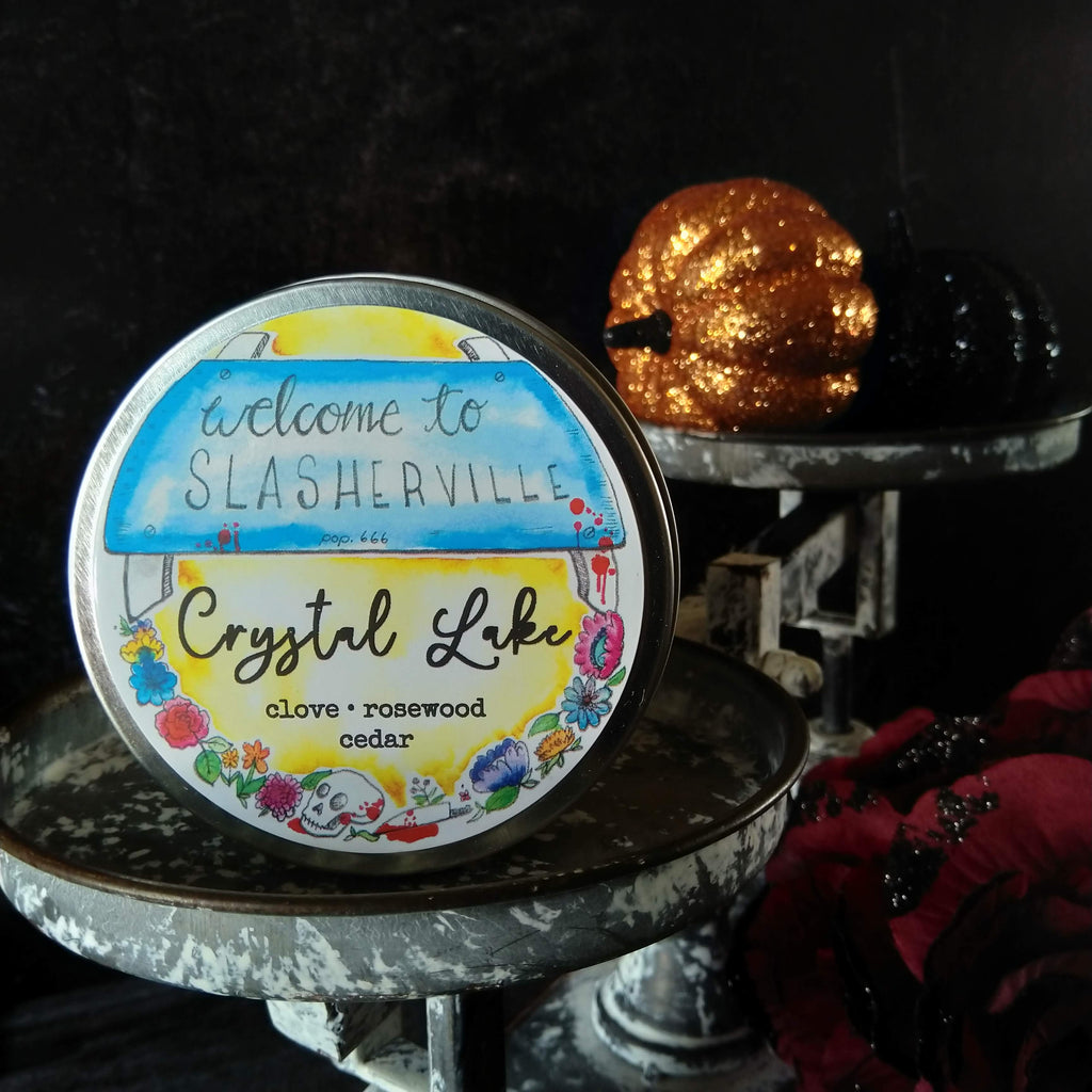 Crystal Lake candle - metal tin