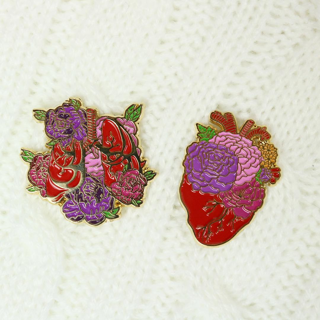 Botanical Heart Enamel Pin