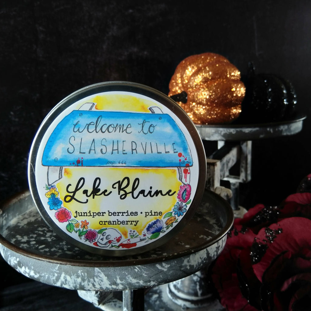 Lake Blaine candle - metal tin