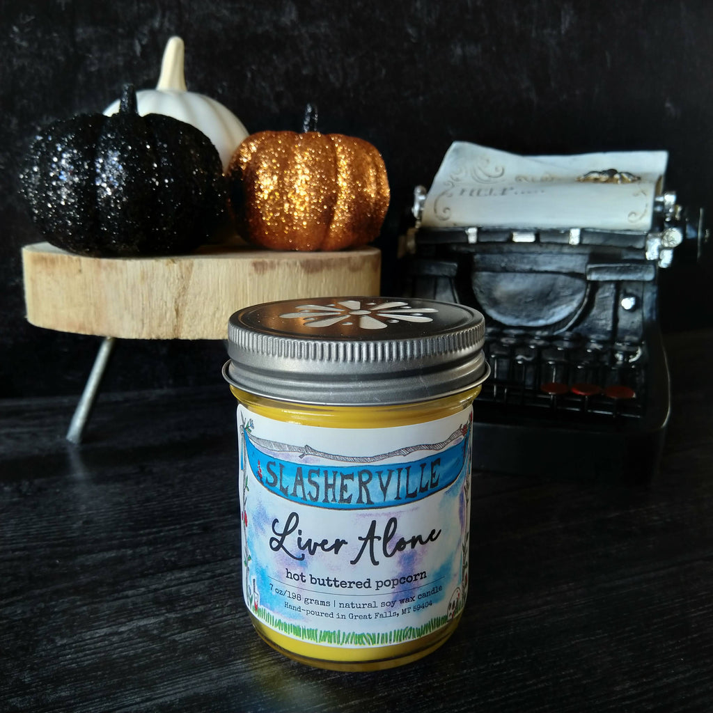 Liver Alone candle - glass jar