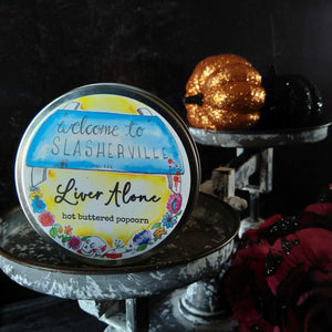 Liver Alone candle - metal tin