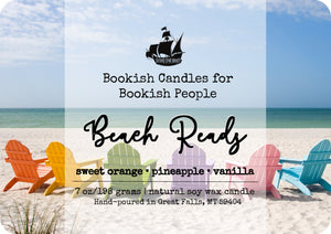 Beach Reads candle - glass jar