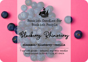 Blueberry Rhinoceros candle