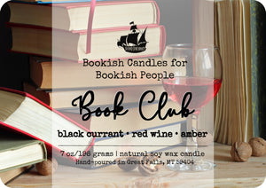 Book Club candle - glass jar