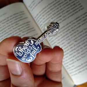 Music Speaks Enamel Pin