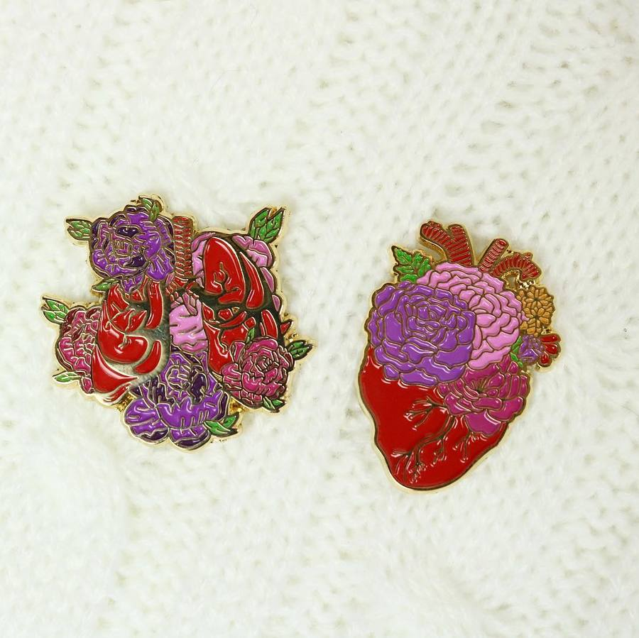 Botanical Organs Enamel Pin Set