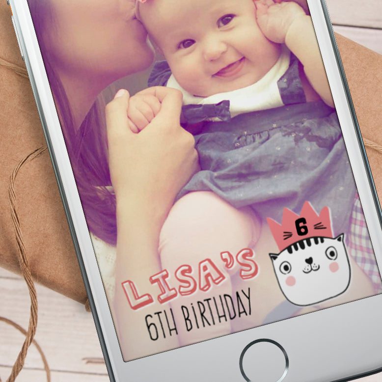 Editable Cool Cats Snapchat Filter Template INSTANT DOWNLOAD
