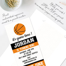 basketball birthday party invitation template editable instant download boys