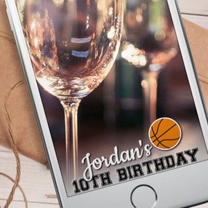 Editable Basketball Snapchat Filter Template INSTANT DOWNLOAD