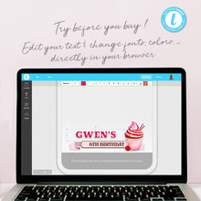 Editable Cupcake Snapchat Filter Template INSTANT DOWNLOAD